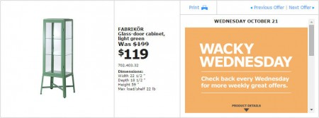 IKEA - Montreal Wacky Wednesday Deal of the Day (Oct 21)