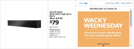 IKEA - Montreal Wacky Wednesday Deal of the Day (Oct 28) A