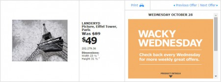 IKEA - Montreal Wacky Wednesday Deal of the Day (Oct 28) B