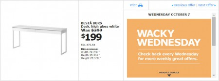 IKEA - Montreal Wacky Wednesday Deal of the Day (Oct 7) A