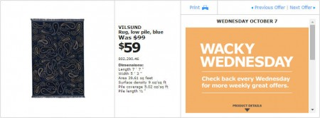 IKEA - Montreal Wacky Wednesday Deal of the Day (Oct 7) B