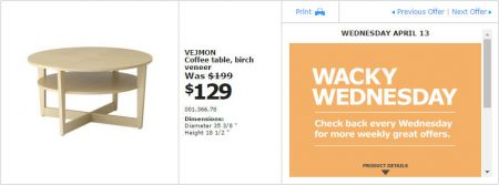 IKEA - Montreal Wacky Wednesday Deal of the Day (Apr 13) A