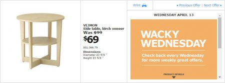 IKEA - Montreal Wacky Wednesday Deal of the Day (Apr 13) B