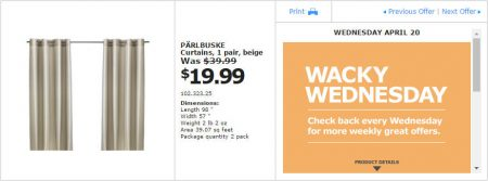 IKEA - Montreal Wacky Wednesday Deal of the Day (Apr 20)
