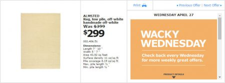 IKEA - Montreal Wacky Wednesday Deal of the Day (Apr 27) A