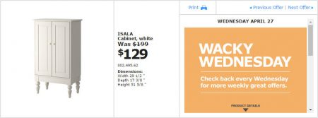 IKEA - Montreal Wacky Wednesday Deal of the Day (Apr 27) B