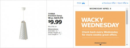 IKEA - Montreal Wacky Wednesday Deal of the Day (Apr 6) A