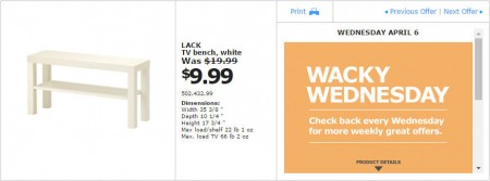 IKEA - Montreal Wacky Wednesday Deal of the Day (Apr 6) B