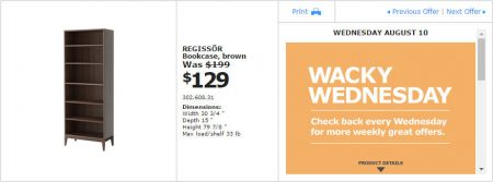 IKEA - Montreal Wacky Wednesday Deal of the Day (Aug 10)
