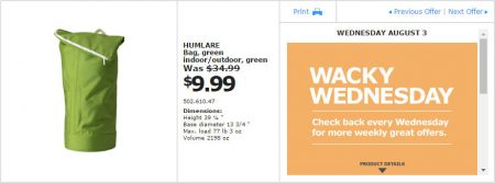IKEA - Montreal Wacky Wednesday Deal of the Day (Aug 3) A