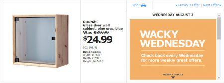 IKEA - Montreal Wacky Wednesday Deal of the Day (Aug 3) B