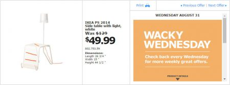 IKEA - Montreal Wacky Wednesday Deal of the Day (Aug 31) A