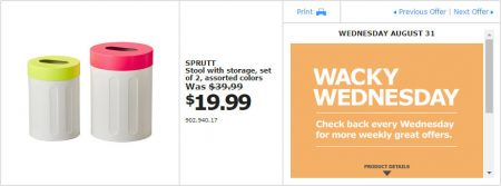 IKEA - Montreal Wacky Wednesday Deal of the Day (Aug 31) B